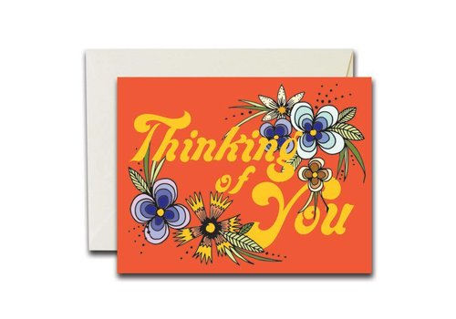 Native Bear Native Bear - Thinking of You Florals - Greeting Card