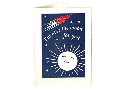 Archivist Gallery Archivist Gallery - Over the Moon - Greeting Card