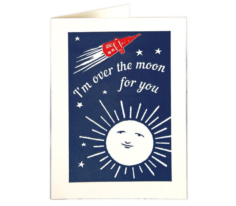 Archivist Gallery - Over the Moon - Greeting Card