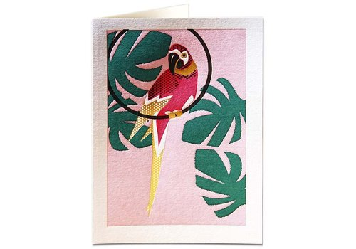 Archivist Gallery Archivist Gallery - Pink Parrot - Greeting Card