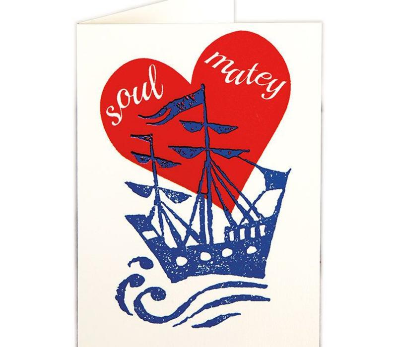 Archivist Gallery - Soul Matey - Greeting Card
