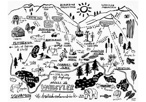 People I've Loved People I've Loved - Whistler Map - Greeting Card