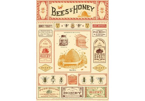 Cavallini Papers & Co Cavallini - Bees & Honey - Wrap/Poster