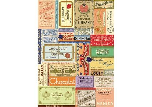 Cavallini Papers & Co Cavallini - Chocolate - Wrap/Poster