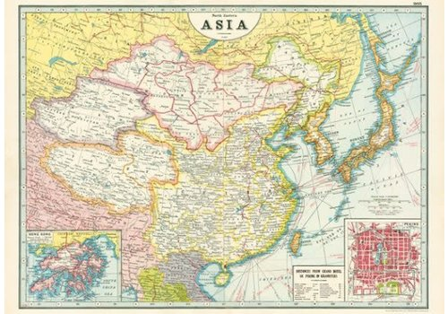 Cavallini Papers & Co Cavallini - Asia Map - Wrap/Poster
