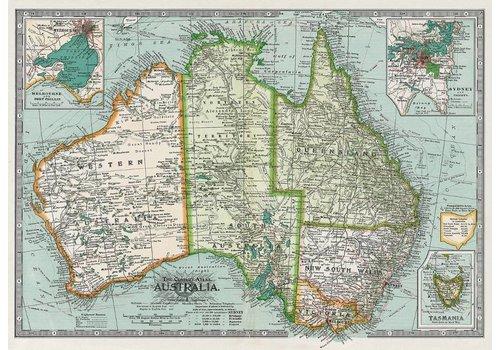Cavallini Cavallini - Australia Map - Wrap/Poster