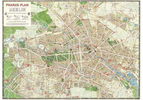Cavallini Papers & Co Cavallini - Berlin Map - Wrap/Poster