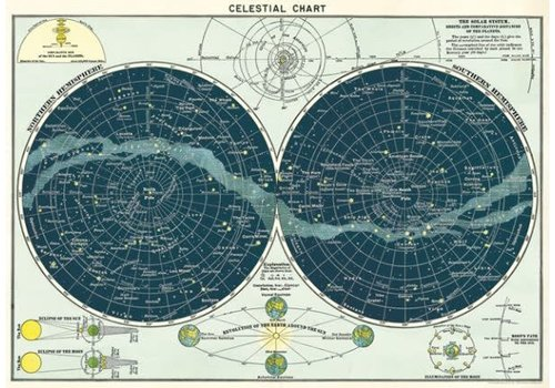 Cavallini Papers & Co Cavallini - Celestial Chart - Wrap/Poster
