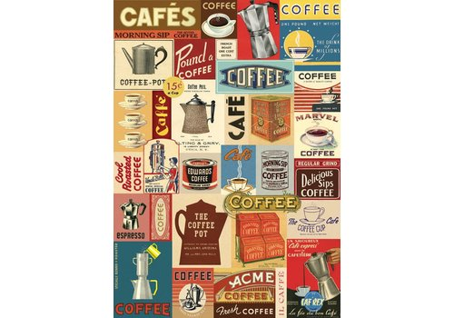 Cavallini Papers & Co Cavallini - Coffee - Wrap/Poster