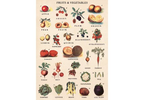 Cavallini Papers & Co Cavallini - Fruits & Vegetables - Wrap/Poster
