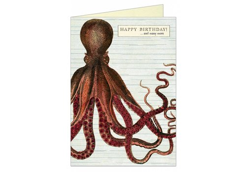 Cavallini Papers & Co Cavallini - Happy Birthday Octopus - Greeting Card