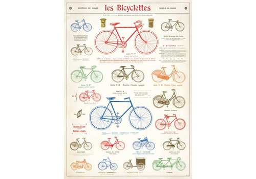 Cavallini Papers & Co Cavallini - Les Bicyclettes - Wrap/Poster