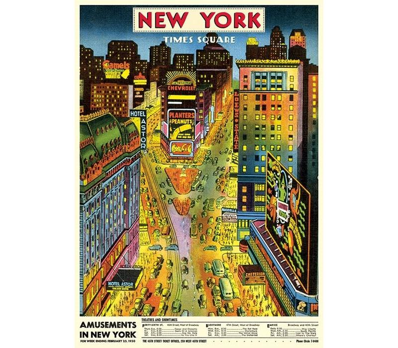 Cavallini - New York Times Square - Wrap/Poster