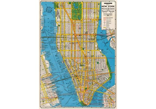 Cavallini Papers & Co Cavallini - New York Transit Guide - Wrap/Poster