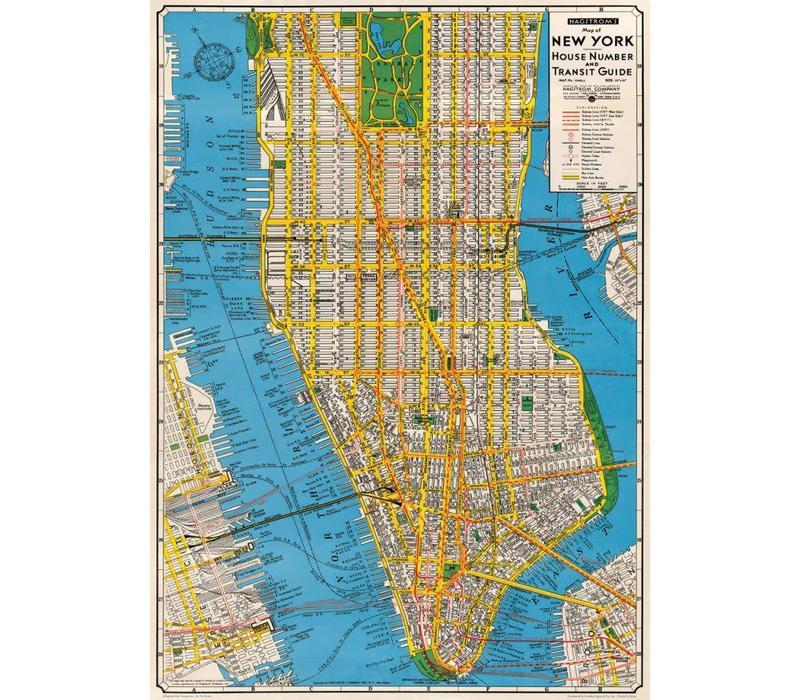 Cavallini - New York Transit Guide - Wrap/Poster
