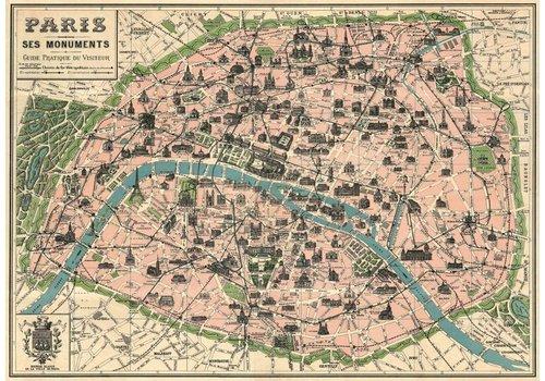 Cavallini Papers & Co Cavallini - Paris Map - Wrap/Poster