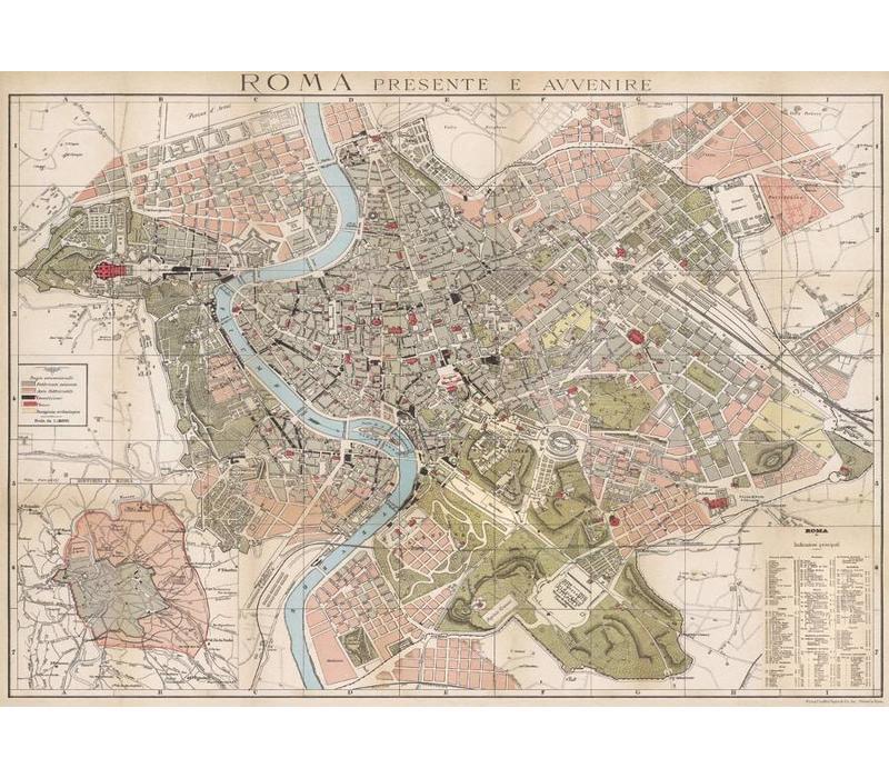 Cavallini - Rome Map - Wrap/Poster