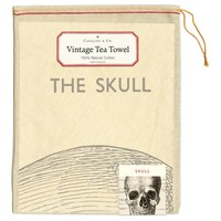 Cavallini - Skull - Tea Towel