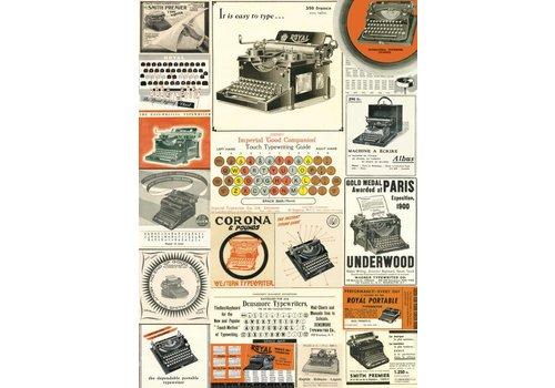 Cavallini Papers & Co Cavallini - Vintage Typewriters - Wrap/Poster