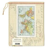 Cavallini - World Map - Tea Towel