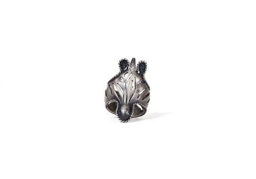 Michi Roman Michi Roman - Zebra Ring - Silver