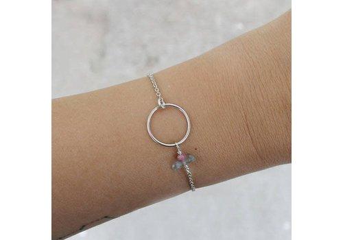 Âme Âme Jewels - Circle Stacking Bracelet - Silver