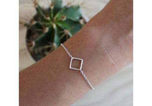 Âme Âme Jewels - Square Bracelet - Silver