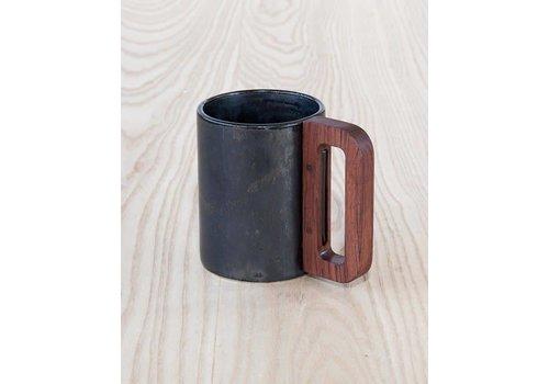Matimanana Matimañana - Black Mug with Wooden Handle