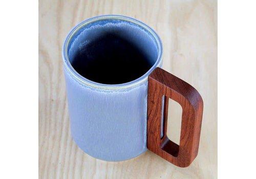 Matimanana Matimañana - Mug with Wooden Handle - Blue