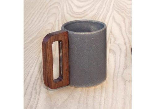 Matimanana Matimañana - Gray Mug with Wooden Handle