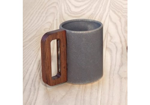 Matimanana Matimañana - Grey Mug with Wooden Handle