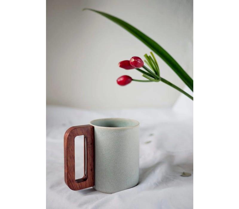 Matimañana - Mug with Wooden Handle - Sky