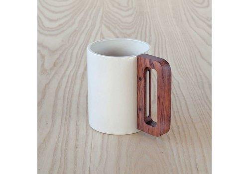 Matimanana Matimañana - Mug with Wooden Handle - White
