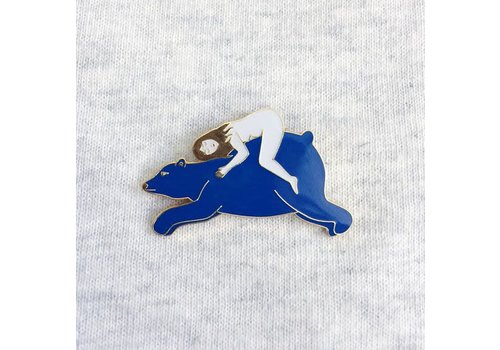 Lisa Junius Lisa Junius - Girl and Bear Pin