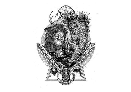 Rapha Hu Rapha Hu - Tiempos Duros - Print