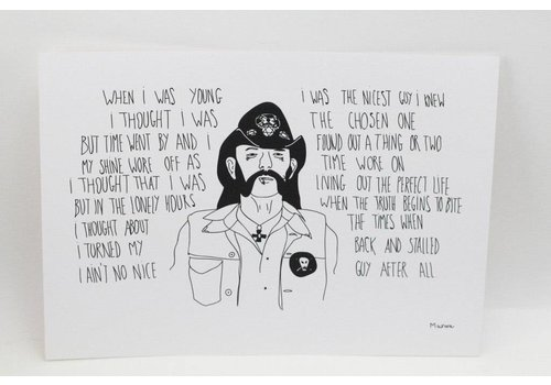 Marina Seijas Marina Seijas - Lemmy Kilmister - Print A4