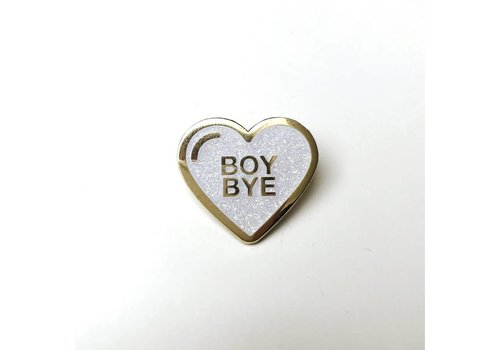Sad Truth Supply Sad Truth Supply - Boy Bye White Glitter - Pin