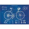 Cavallini Papers & Co Cavallini - Bicycle Blueprint - Wrap/Poster