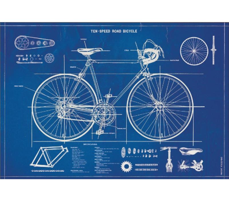 Cavallini - Bicycle Blueprint - Wrap/Poster