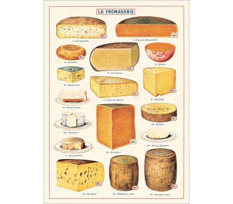 Cavallini - Cheese - Wrap/Poster