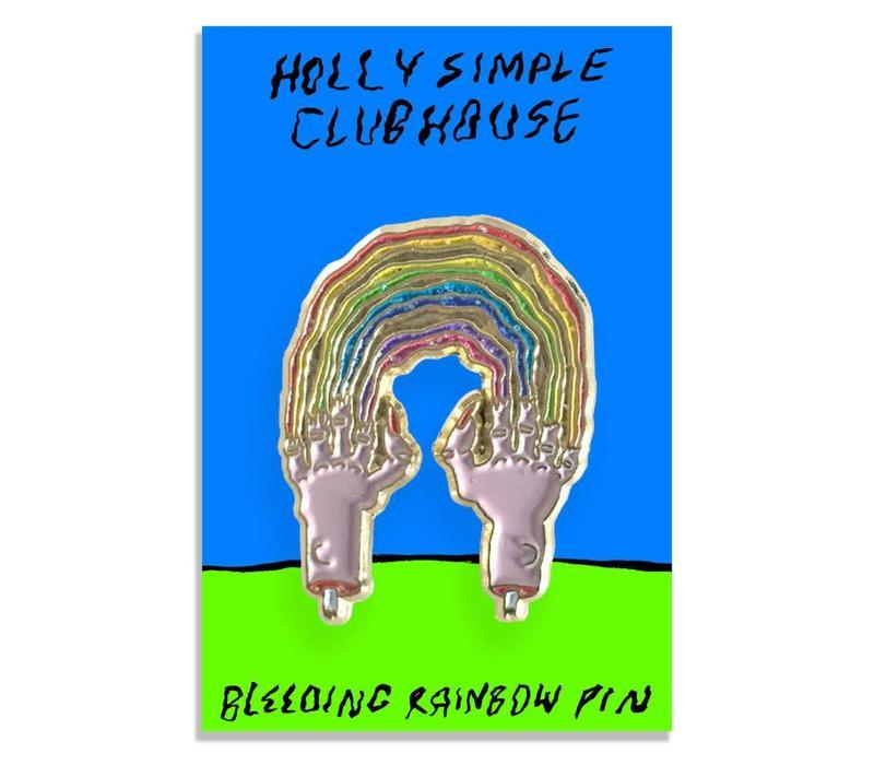 Holly Simple - Bleeding Rainbow Pin