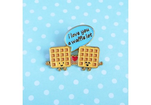 Queenie's Cards Queenie's - I Love a Waffle Lot - Pin