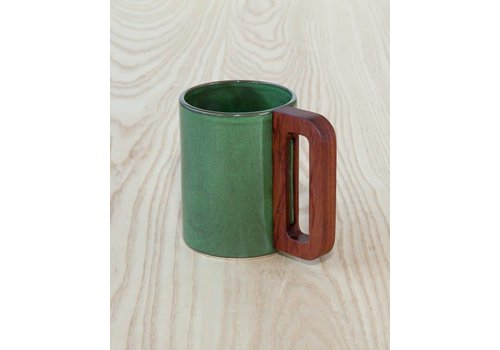 Matimanana Matimañana - Green Mug with Wooden Handle