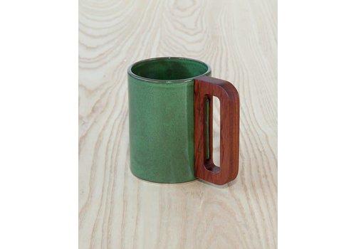Matimanana Matimañana - Mug with Wooden Handle - Green