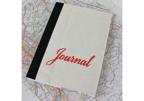 Sukie Sukie - Vintage Linen Map Travel Journal - Red Script