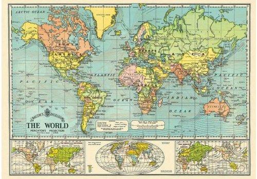 Cavallini Cavallini - World Map 3 - Wrap/Poster