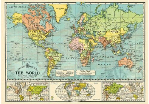 Cavallini Papers & Co Cavallini - World Map 3 - Wrap/Poster