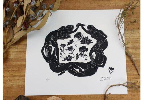 Hanako Mimiko Hanako Mimiko - El Círculo - A3 Print