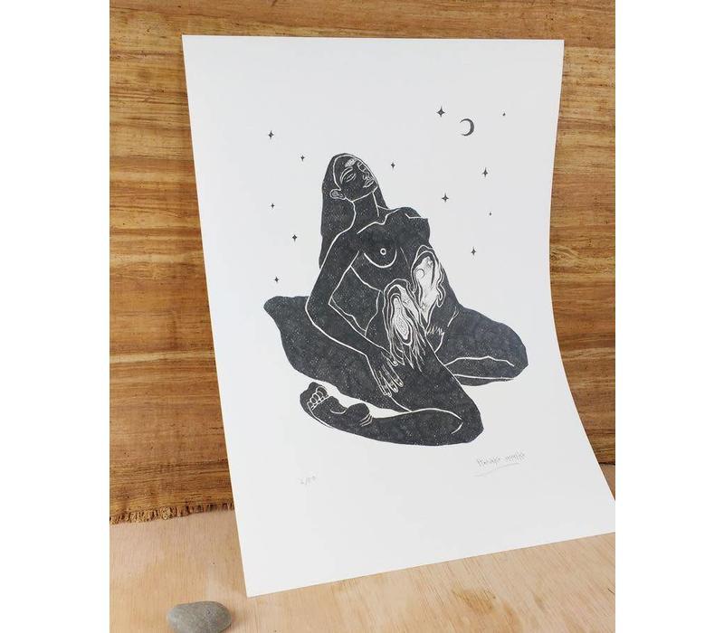 Hanako Mimiko - El Viaje Del Psoas - A3 Print