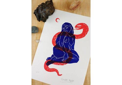 Hanako Mimiko Hanako Mimiko - Mujer con serpiente - A5 Print